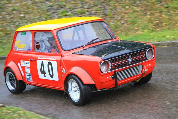 Mini Clubman competing at the Manor Farm Hillclimb