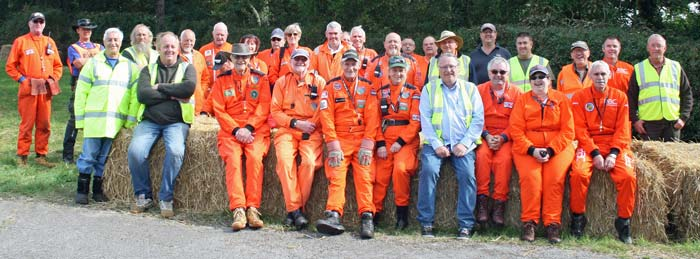 Team of marshals at a Speed Hillclimb
